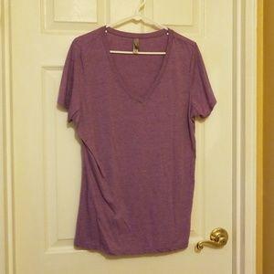 Purple vneck tshirt
